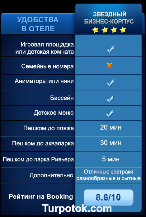 Список услуг, которые отель Звездный готов предоставить для семей с маленьким ребенком