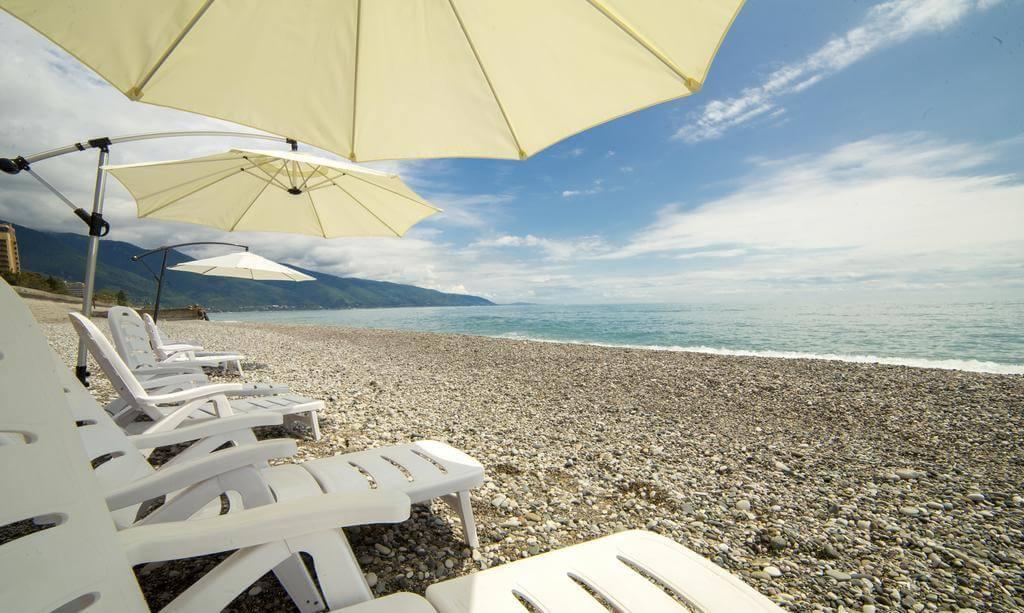 Пляж гостиницы Wellness Park Hotel Gagra