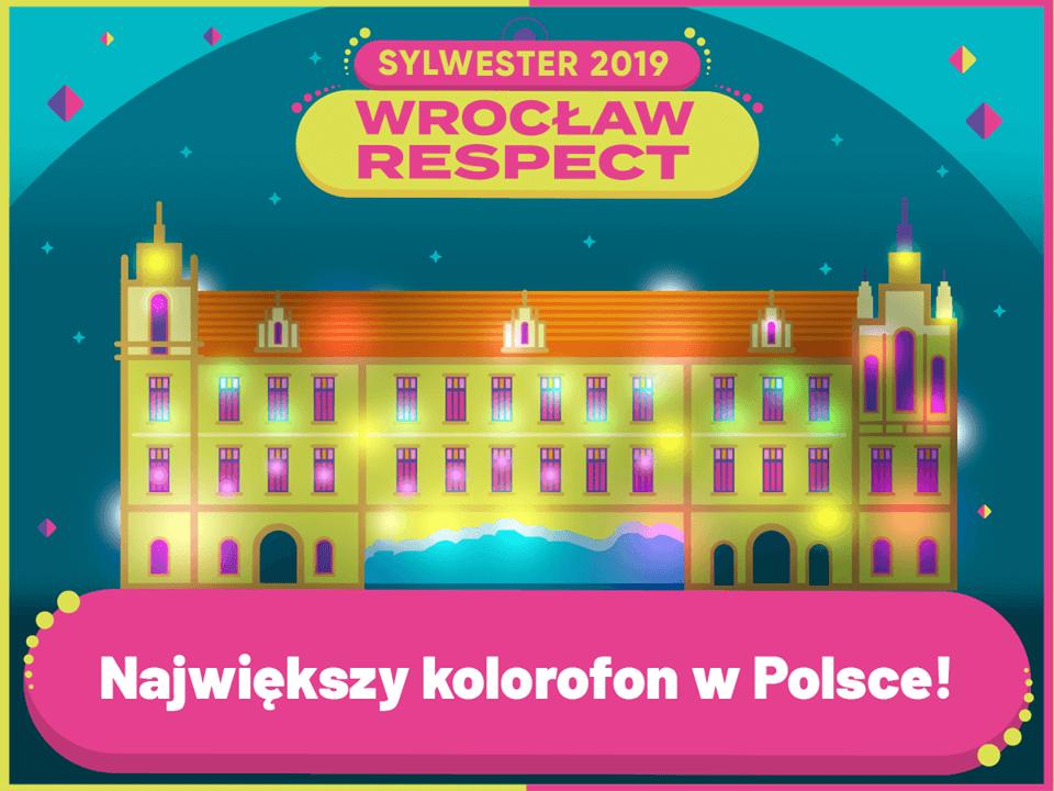 Афиша главного новогоднего мероприятия во Вроцлаве (Польша)
