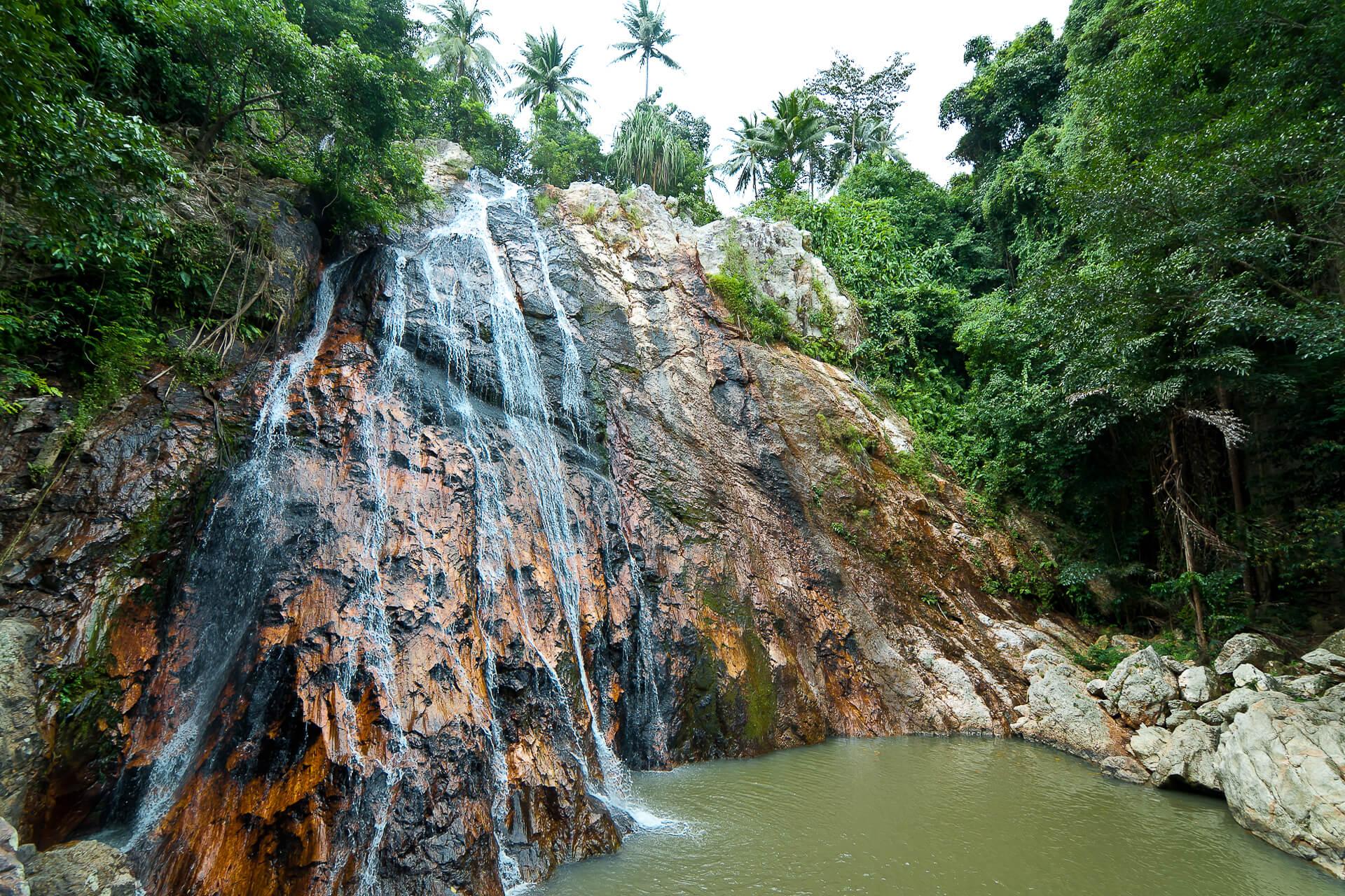 Развлечения для детей на Самуи, фото водопада Намуанг (Na Mueang)