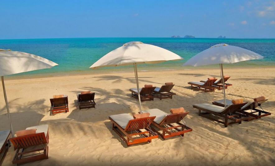 Фото пляжа Талинг Нгам напротив отеля The Sunset Beach Resort & Spa