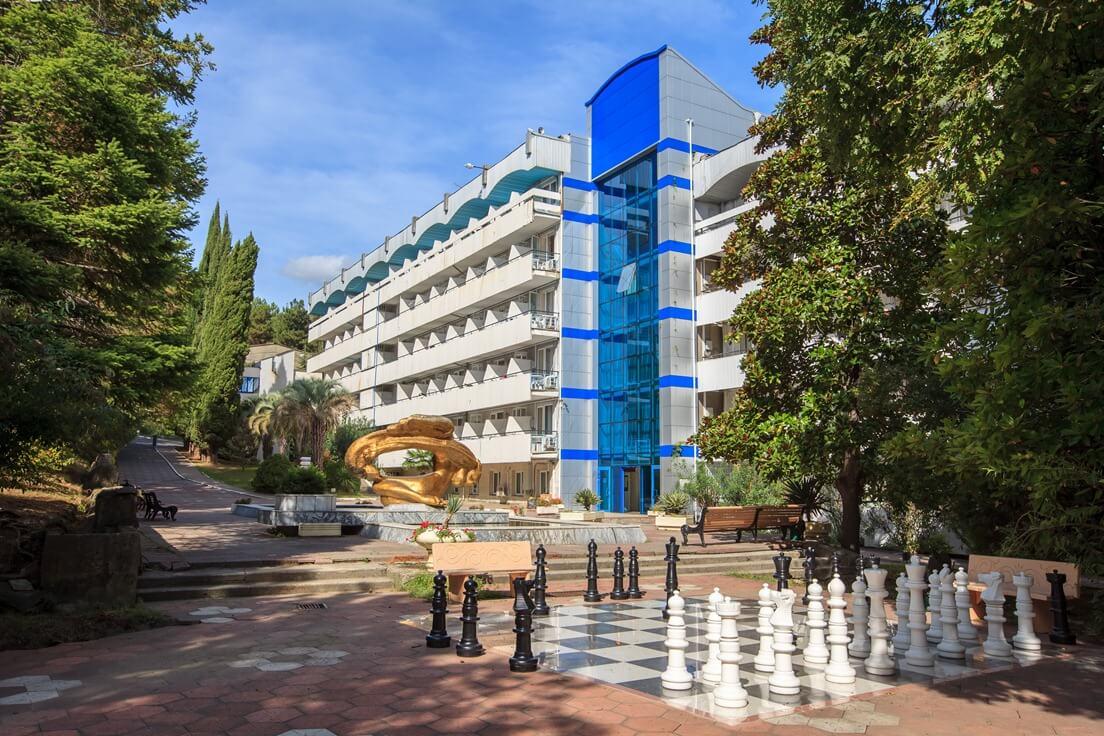 Вид на санаторий «Тихий дон» (Лазаревское)