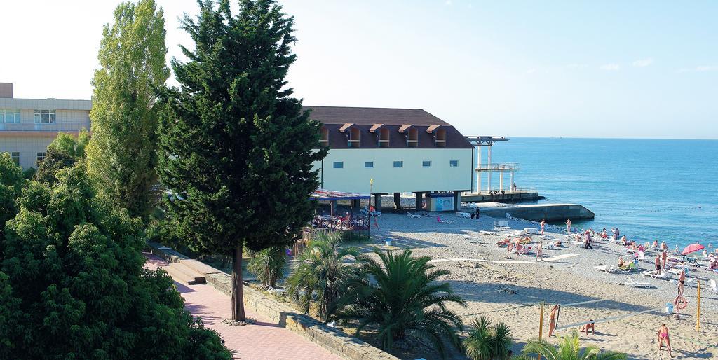 Фото пляжа пансионата Бургас (Адлер)