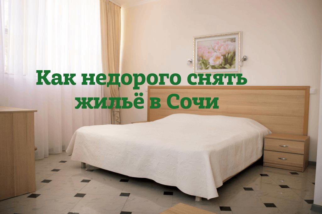 """Иллюстрация к статье """"Как забронировать отель или гостевой дом в Сочи недорого"""""""