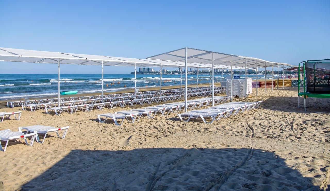 Фото пляжа отеля Восход в Анапе