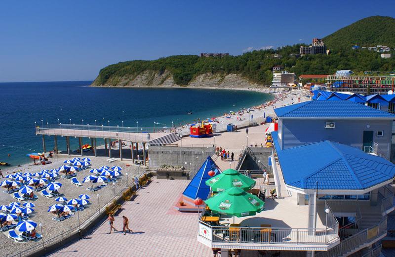 """Фото пляжа отеля """"Гамма"""" в Туапсе"""