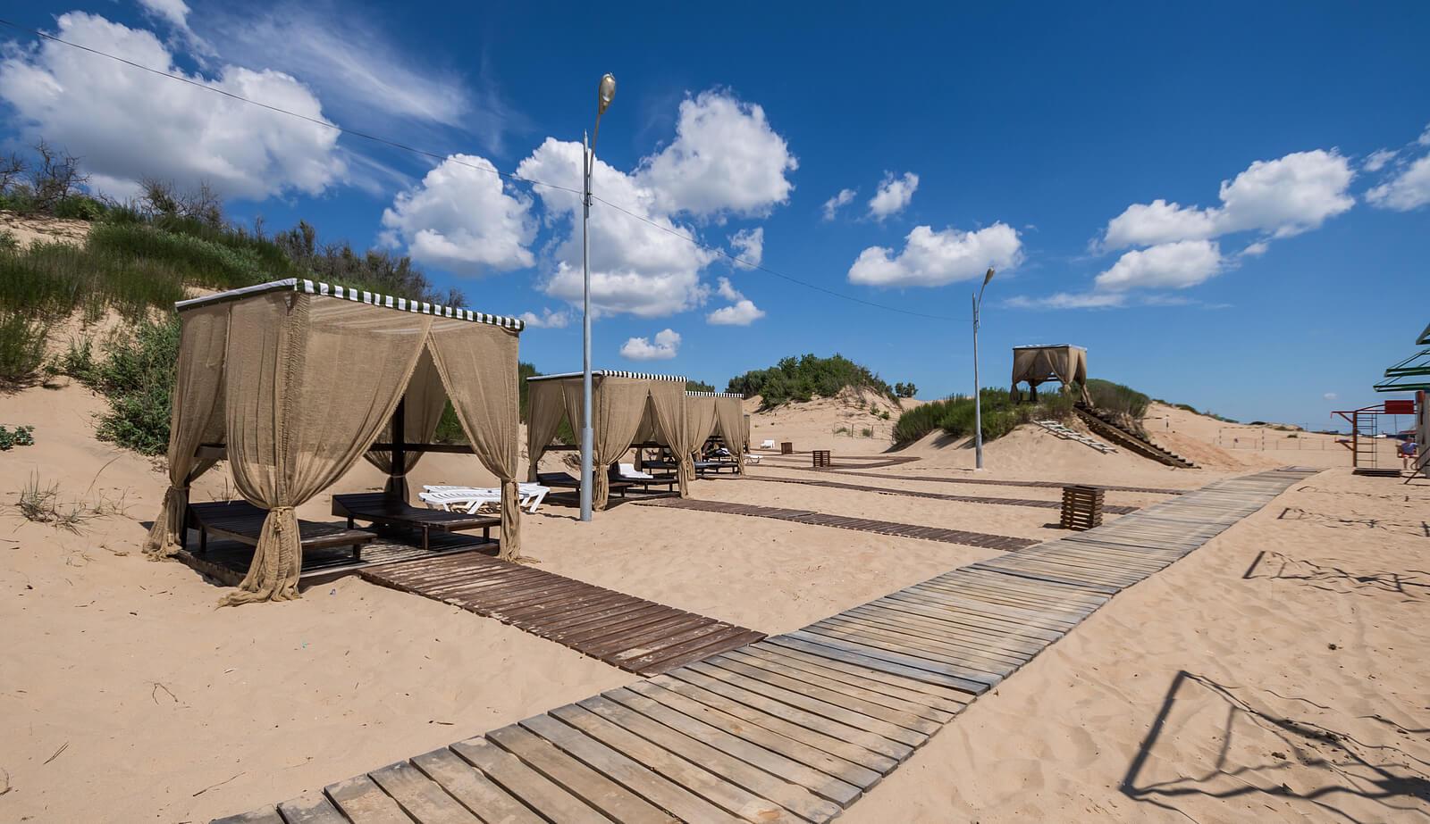 Фото пляжа отеля «Лазурный берег»