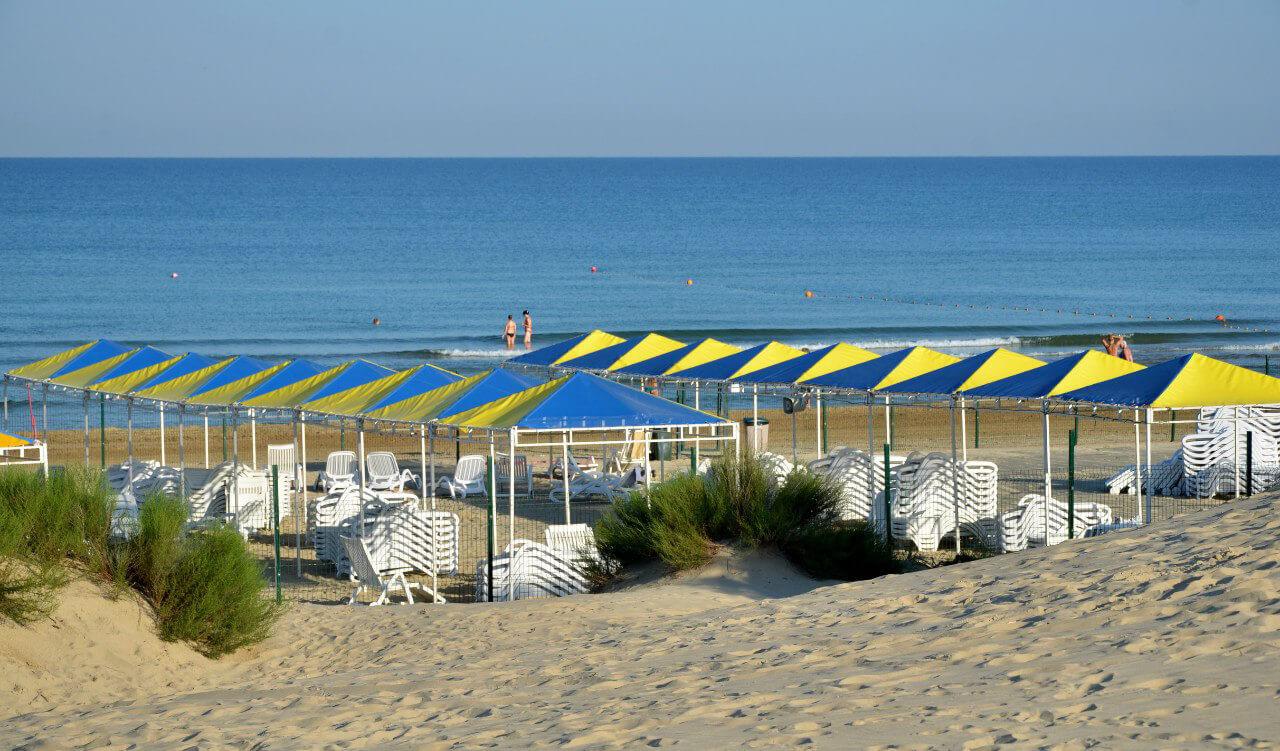 Фото пляжа пансионата «Золотые пески»