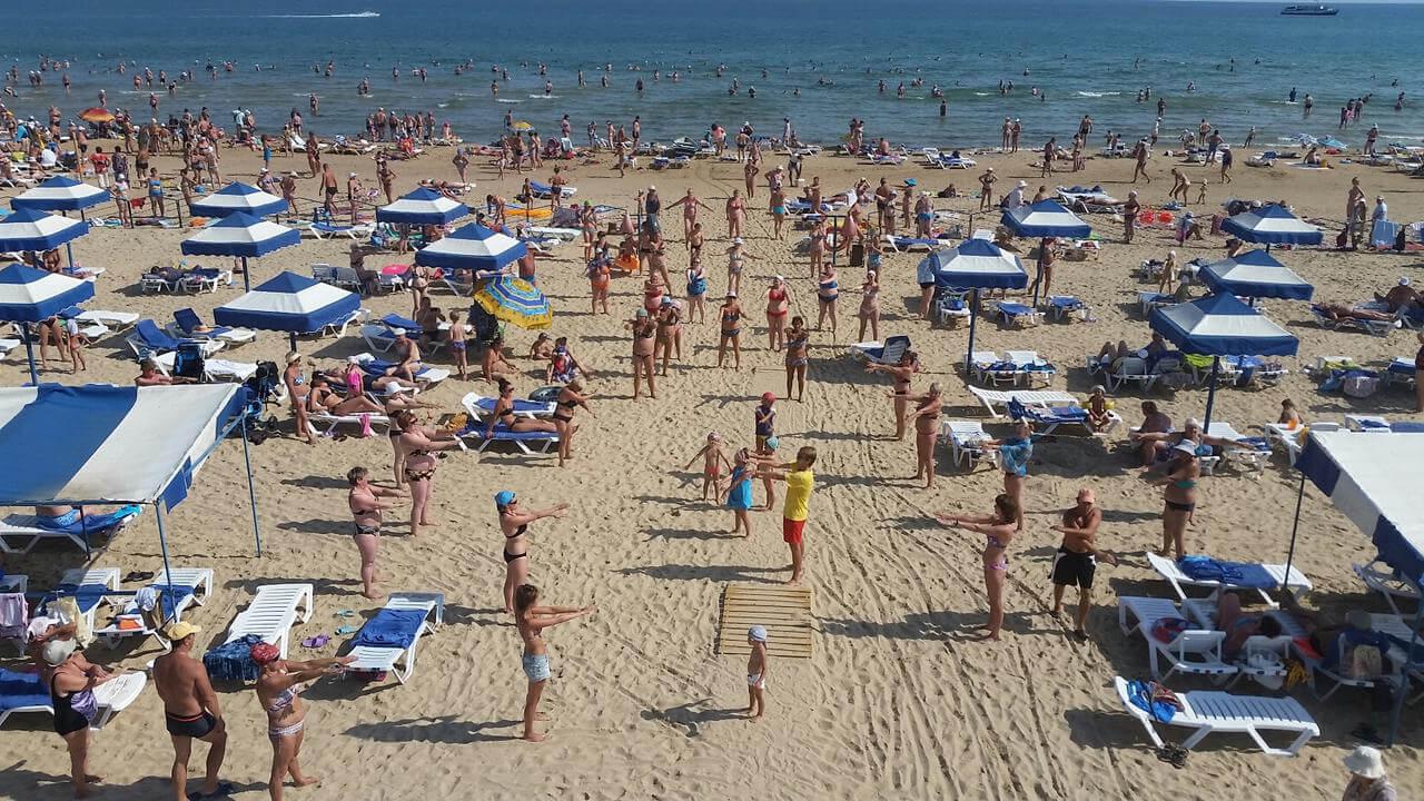Фото пляжа санатория «Рябинушка»