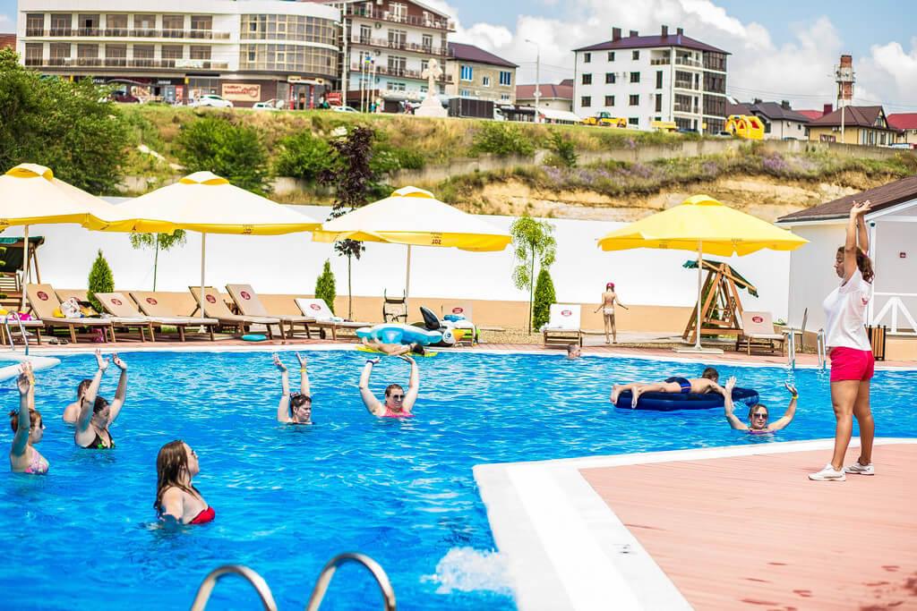 Фото подогреваемого бассейна в отеле Dacha del Sol