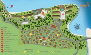 Карта отеля Амари Пхукет