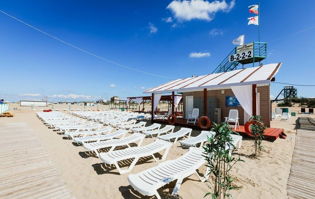 "Фото пляжа, принадлежащего санаторию ""Аквамарин"" (Витязево)"