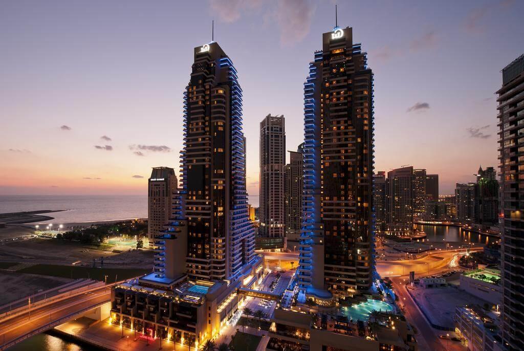 Вид на небоскребы отеля Grosvenor House 5* (Дубай Марина)