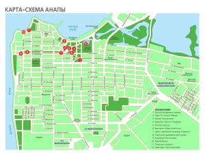 Карта-схема Анапы для туристов